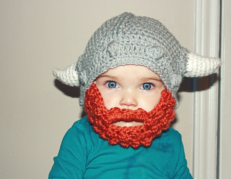 Viking Hat Knitting Pattern Free : Beard Beanies Beanie Ville