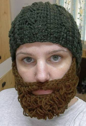 Free Crochet Patterns Hats With Beards : Beard Beanies Beanie Ville