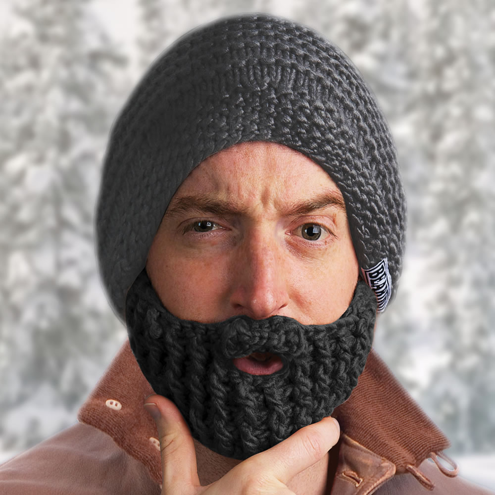 Knit helmets and beanies with crazy Barbarian beards. Vikings | Knights | Barbarian Pillager | Lumberjacks and more.