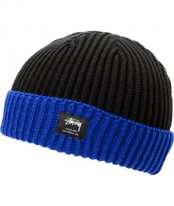 Black and Blue Beanie