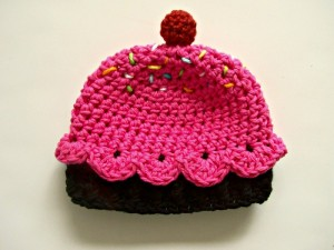 Crochet Cupcake Beanie
