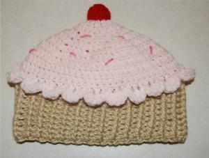 Crochet Cupcake Beanie Pattern