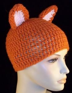Crochet Fox Beanie