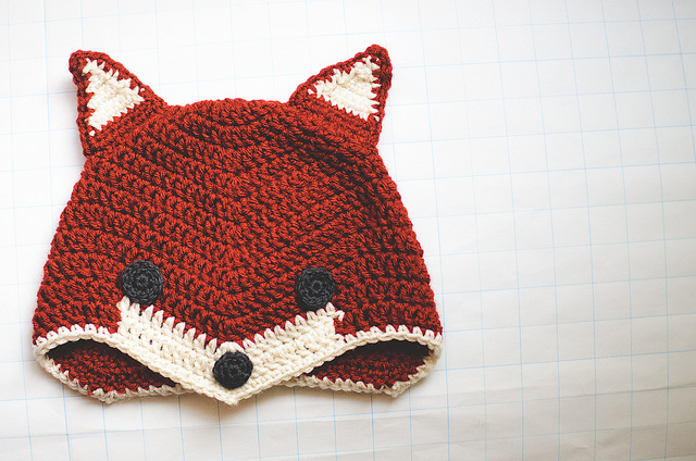 Free Pattern Crochet Fox : Fox Beanies Beanie Ville
