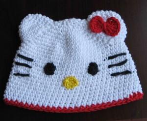 Crochet Hello Kitty Beanie