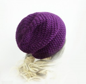 Crochet Purple Beanie