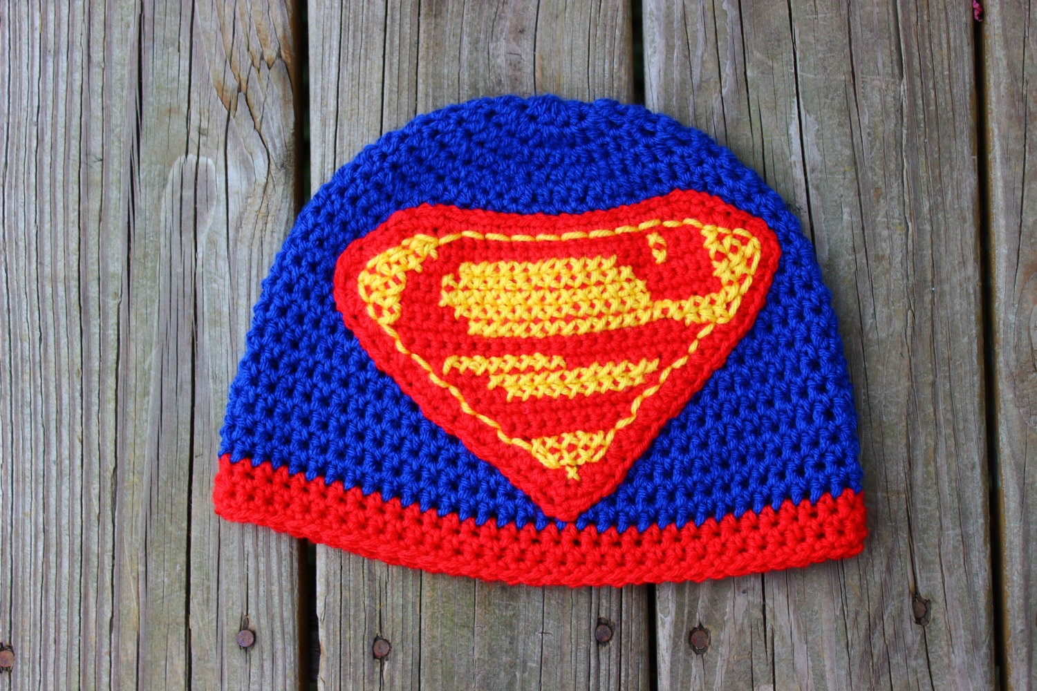 e33f581c2c1 Crochet Superman Beanie