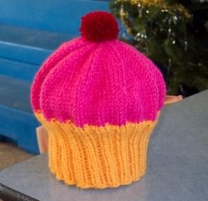 Cupcake Beanie Knitting Pattern