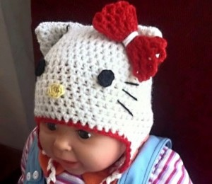 Hello Kitty Beanie for Baby