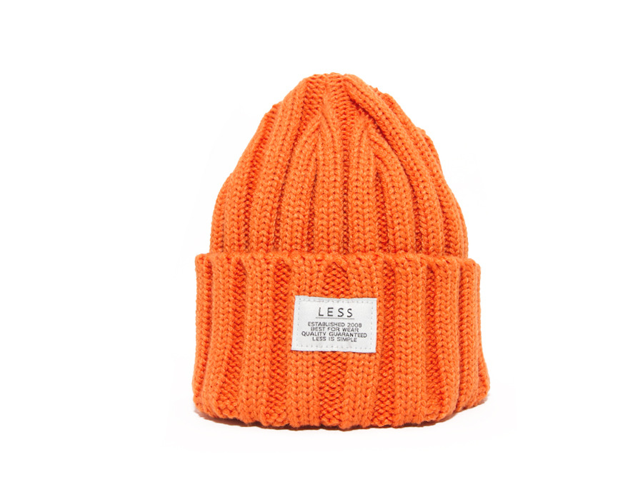 Knit Orange Beanie 34cbc95205b