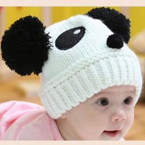 Knit Panda Beanie