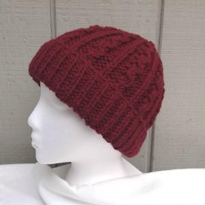 Maroon Knit Beanie
