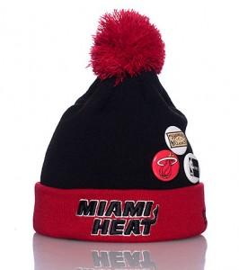 Miami Heat Pom Pom Beanie