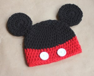 Mickey Mouse Beanie Knitting Pattern