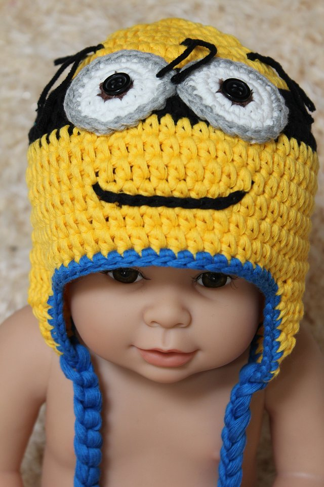 How To Make Minion Baby Hat Knitting
