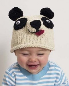 Panda Beanie Knitting Pattern
