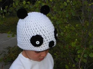 Panda Beanie for Kids