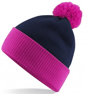 Pink and Black Beanie