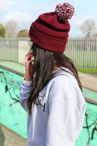 Pom Beanies for Women