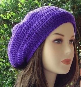 Purple Slouchy Beanie