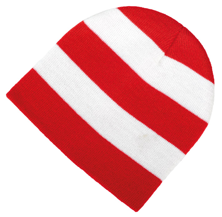 11e945650c3 Red and White Striped Beanie