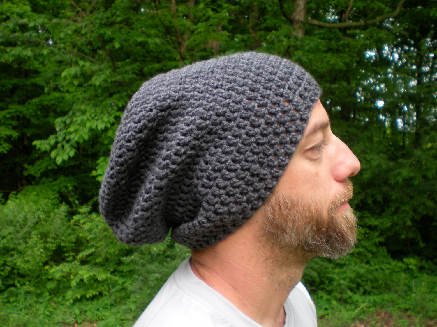 Slouchy Beanie Crochet Pattern Men images