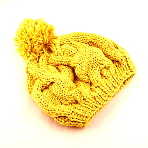Yellow Knit Beanie ac2b7cfa756