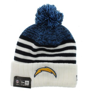 Chargers Beanie with Pom