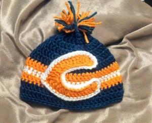 Crochet Chicago Bears Beanie