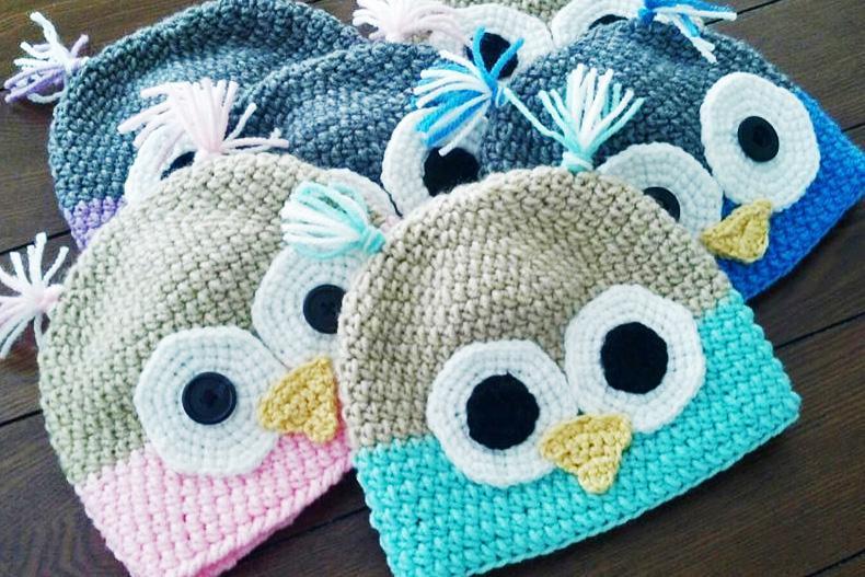 Crochet Owl Beanie 9bea6aee752