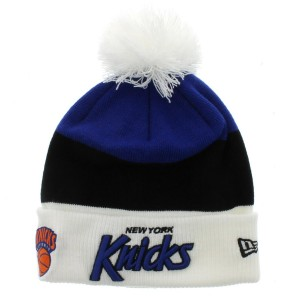 Knicks Beanie Hat with Pom