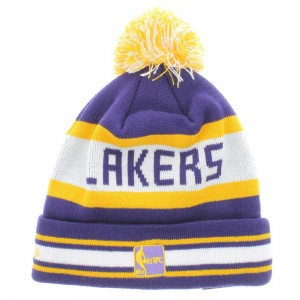 Lakers Beanie with Pom
