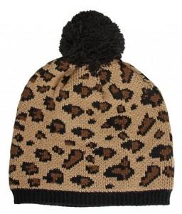 Leopard Beanie with Pom