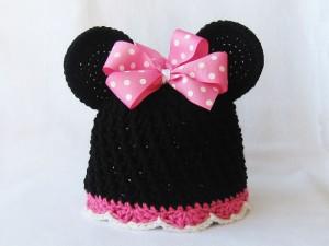 Minnie Mouse Beanie Crochet