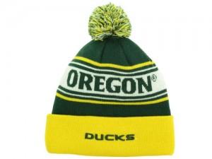 Oregon Ducks Beanie with Pom