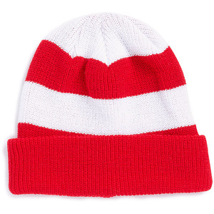 ab58d74a7c058 Red and White Beanie
