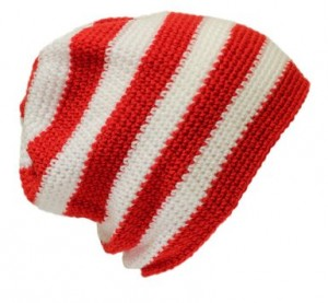 Red and White Beanies