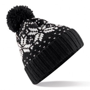 Black and White Beanie Hat