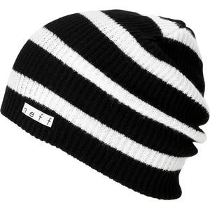 Black and White Striped Beanie