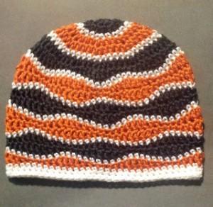 Brain Waves Crochet Beanie