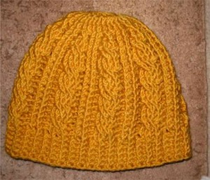 Cable Beanie Crochet Pattern