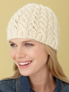 Cable Beanie Knitting Pattern