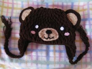 Crochet Bear Beanie