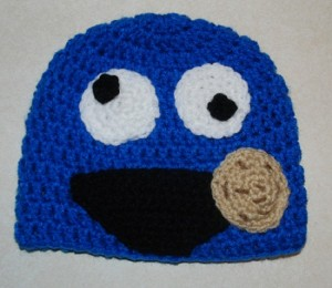 Crochet Cookie Monster Beanie
