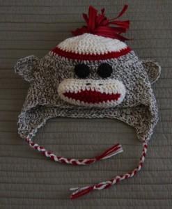 Crochet Sock Monkey Beanie