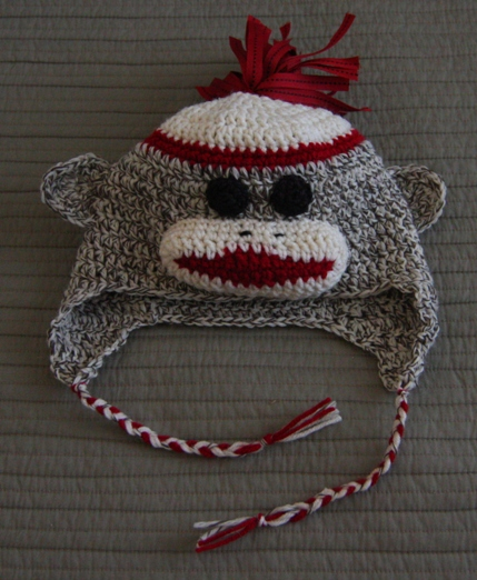 Sock Monkey Beanie Beanie Ville