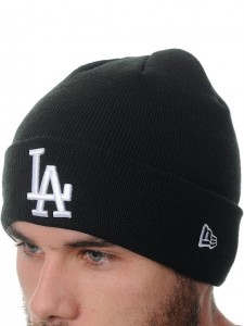 Dodgers Beanie Black