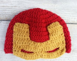 Free Crochet Pattern Iron Man Hat : Iron Man Beanie Beanie Ville
