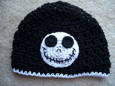 Crochet Pattern For Jack Skellington Hat : Jack Skellington Beanie Beanie Ville