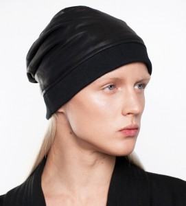 Leather Beanie Hat